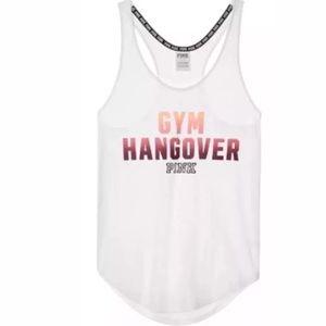 "Victoria's Secret PINK ""GYM HANGOVER"" gym tank top"